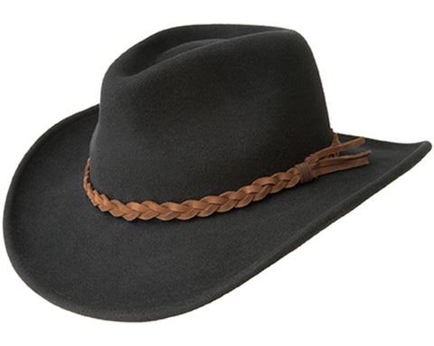 Bailey Switchback Black Womens Felt Western Hat Cassidy