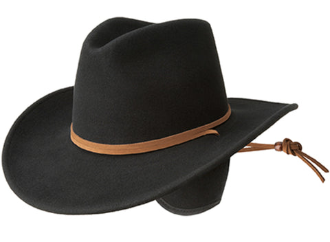 Bailey Joe Eder Black Unisex Felt Western Hat Hondo