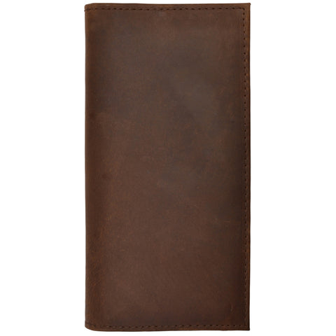 3D Dark Brown Distressed Leather Rodeo Wallet Basic