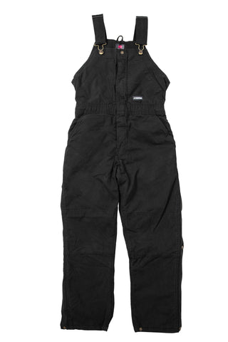 Berne Ladies Black 100% Cotton Insulated Bib Overall