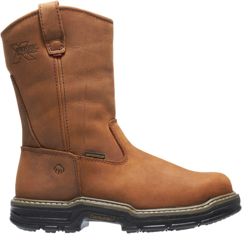 Wolverine Mens Brown Leather Marauder ST EH Wellington Work Boots
