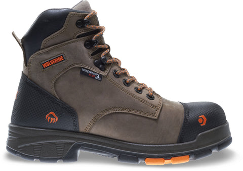 Wolverine Mens Brown Leather Blade LX WP CarbonMax 6in Work Boots