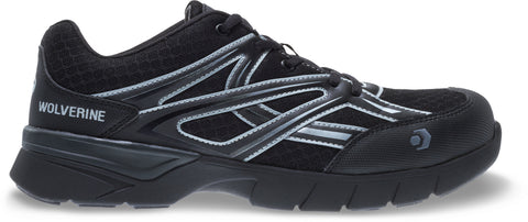 Wolverine Mens Black Mesh Jetstream CarbonMax Work Shoes
