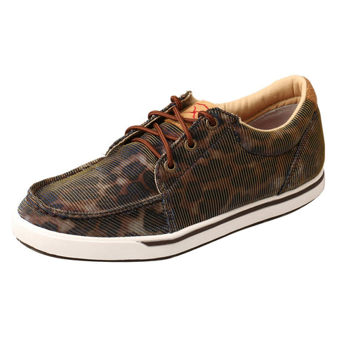 Twisted X Kicks Shiny Leopard/Brown Womens Fabric Sneaker Shoes