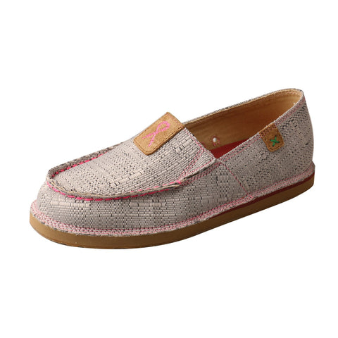 Twisted X TETWP Loafer Light Grey/Pink Womens Fabric Slip-On Shoes