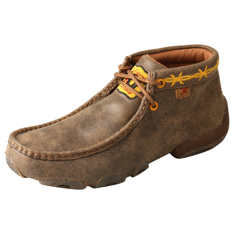 Twisted X Original Bomber Womens Leather Chukka Driving Mocs Boots