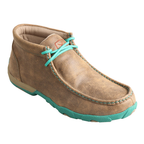 Twisted X Womens Bomber/Turquoise Leather Driving Casual Boots