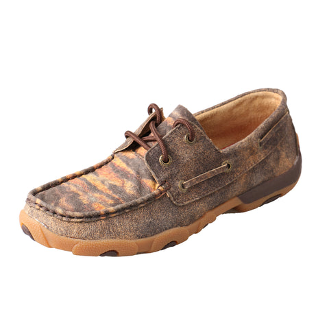 Twisted X Womens Brown Leather Driving Tiger Casuals for Cowboys Shoes