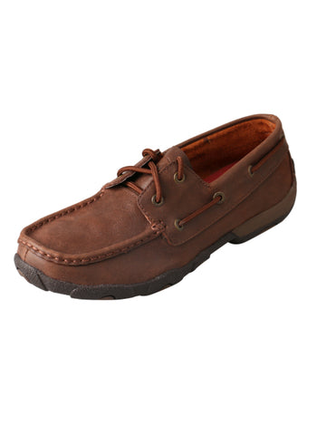 Twisted X Womens Brown Leather Shoes Casuals for Cowboys Driving Mocs