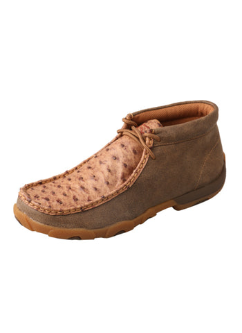 Twisted X Womens Bomber Ostrich Skin Moc Casuals for Cowboys Boots