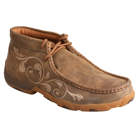 Twisted X Womens Bomber Leather Mocs Stitch Casuals for Cowboys Boots