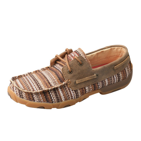 Twisted X Boat Shoes Multi/Bomber Womens Leather Driving Mocs