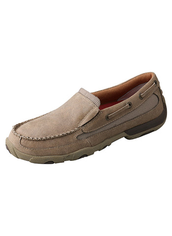 Twisted X Womens Dusty Tan Leather Slip On Mocs Casuals for Cowboys Shoes