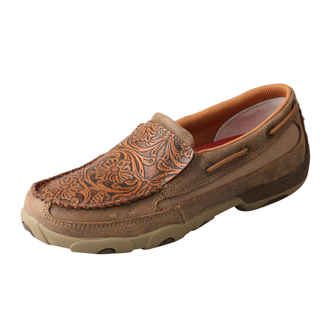 Twisted X Slip-On Shoes Bomber Tooled Womens Leather Driving Mocs