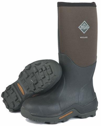 Muck Wetland Outdoor Sporting Mens Tan Foam Field Boots Waterproof