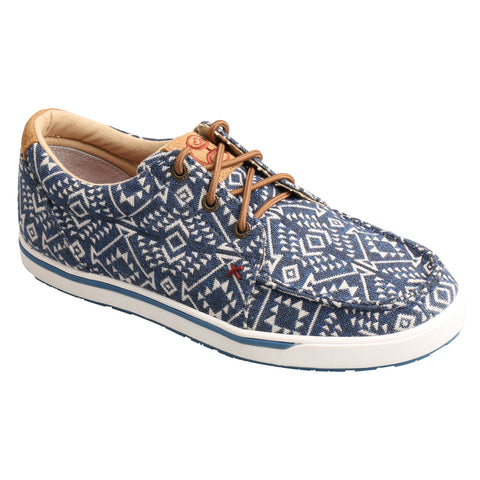 Twisted X Hooey Loper Blue Pattern Womens Fabric Sneaker Shoes