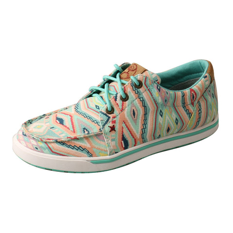 Twisted X Hooey Loper Light Blue/Multi Womens Fabric Sneaker Shoes