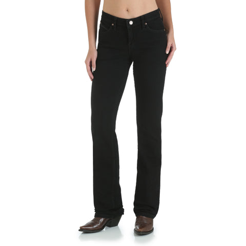 Wrangler Black Magic Cotton Blend Womens Western Ultimate Riding Jeans