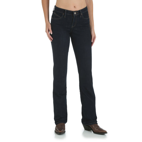 Wrangler Dark Dynasty Cotton Blend Womens Western Riding Jeans