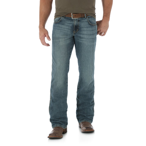 Wrangler Granite 100% Cotton Mens Retro Relaxed Boot Jeans