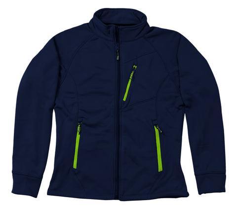 Berne Ladies Navy Fleece Performance Full-Zip Crew