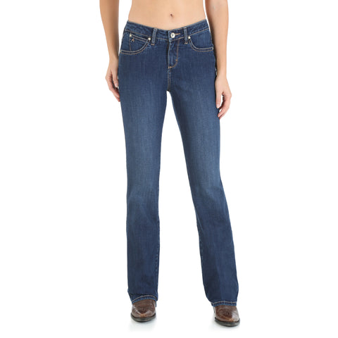 Wrangler OS Wash Cotton Blend Womens Western Aura Jeans