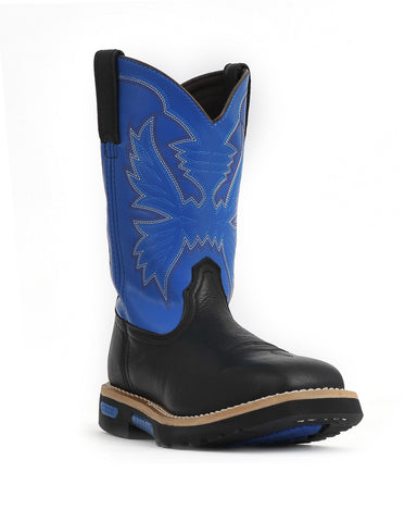 Cinch 10in Mens Black/Royal Blue Leather Master Work Boots