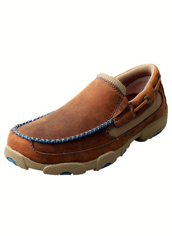 Twisted X Youth Unisex Saddle Leather Blue Casuals for Cowboys Shoes