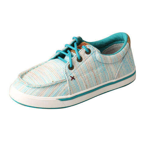 Twisted X Hooey Loper Blue/Multi Kids Fabric Sneaker Shoes