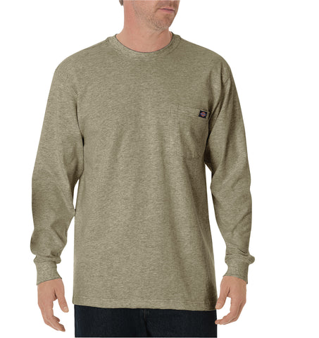 Dickies Mens Desert Sand L/S Long Sleeve Heavyweight Crew Neck Tee