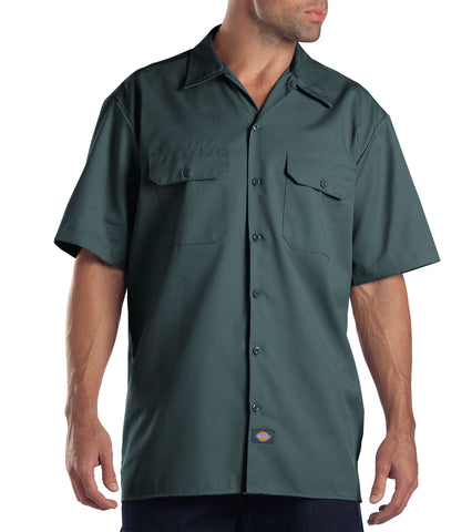Dickies Mens Lincoln Green S/S Short Sleeve Work Shirt