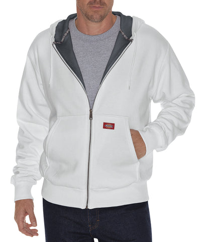 Dickies Mens Ash Gray Thermal Lined Fleece Hoodie
