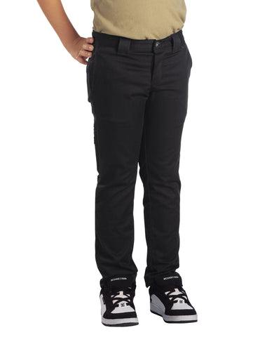 Dickies Boys Charcoal Boys Flex Skinny Fit Straight Leg Pants
