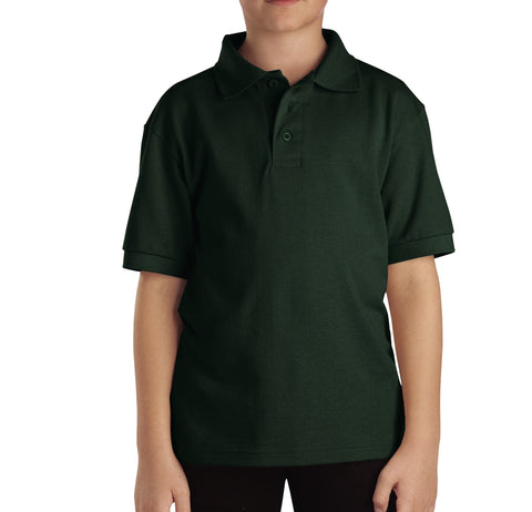 Dickies Hunter Green S/S Kids Boys Short Sleeve Pique Polo Shirt