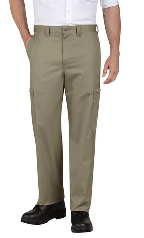 Dickies Mens Desert Sand Industrial Relaxed Fit Cotton Cargo Pants