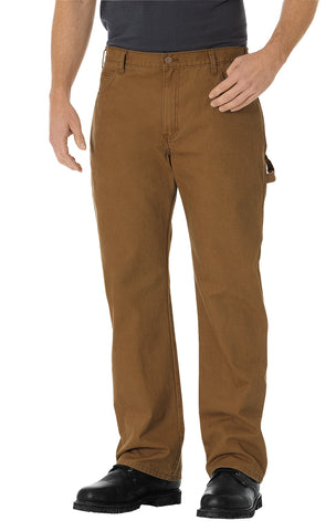 Dickies Mens Rinsed Brown Straight Leg Carpenter Duck Jeans