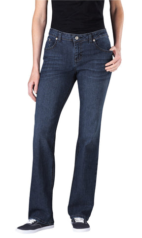 Dickies Womens Antique Dark 1 Womens Relaxed Straight Leg Denim Jean