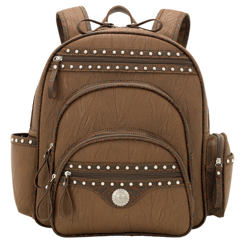 Bandana by American West Lake Tahoe Chestnut Compartment Back Pack Faux Leather