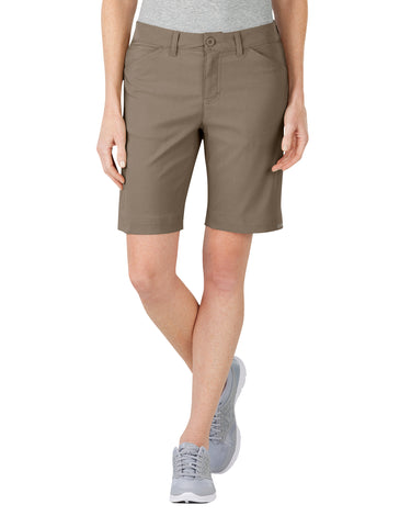 Dickies Womens Pebble Brown Womens Performance Bi-Stretch Short