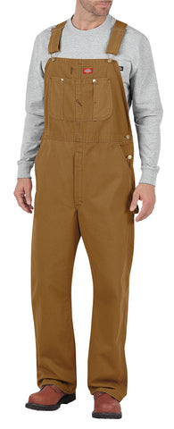 Dickies Mens Rinsed Brown Bib Overalls