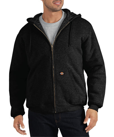 Dickies Mens Black Heavyweight Quilted Fleece Hoodie