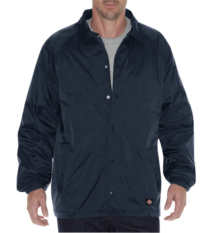 Dickies Mens Dark Navy Snap Front Nylon Jacket
