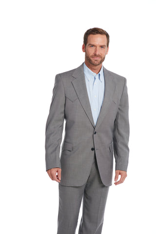 Circle S Mens Steel Grey Polyester Sportcoat Lubbock