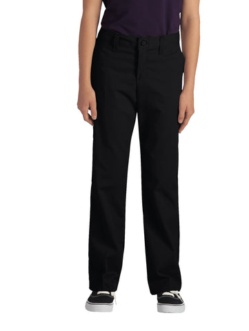 Dickies Girls Black Straight Leg Stretch Twill Pants