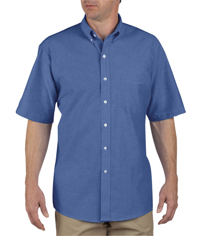Dickies Mens French Blue S/S Button-Down Oxford Short Sleeve Shirt