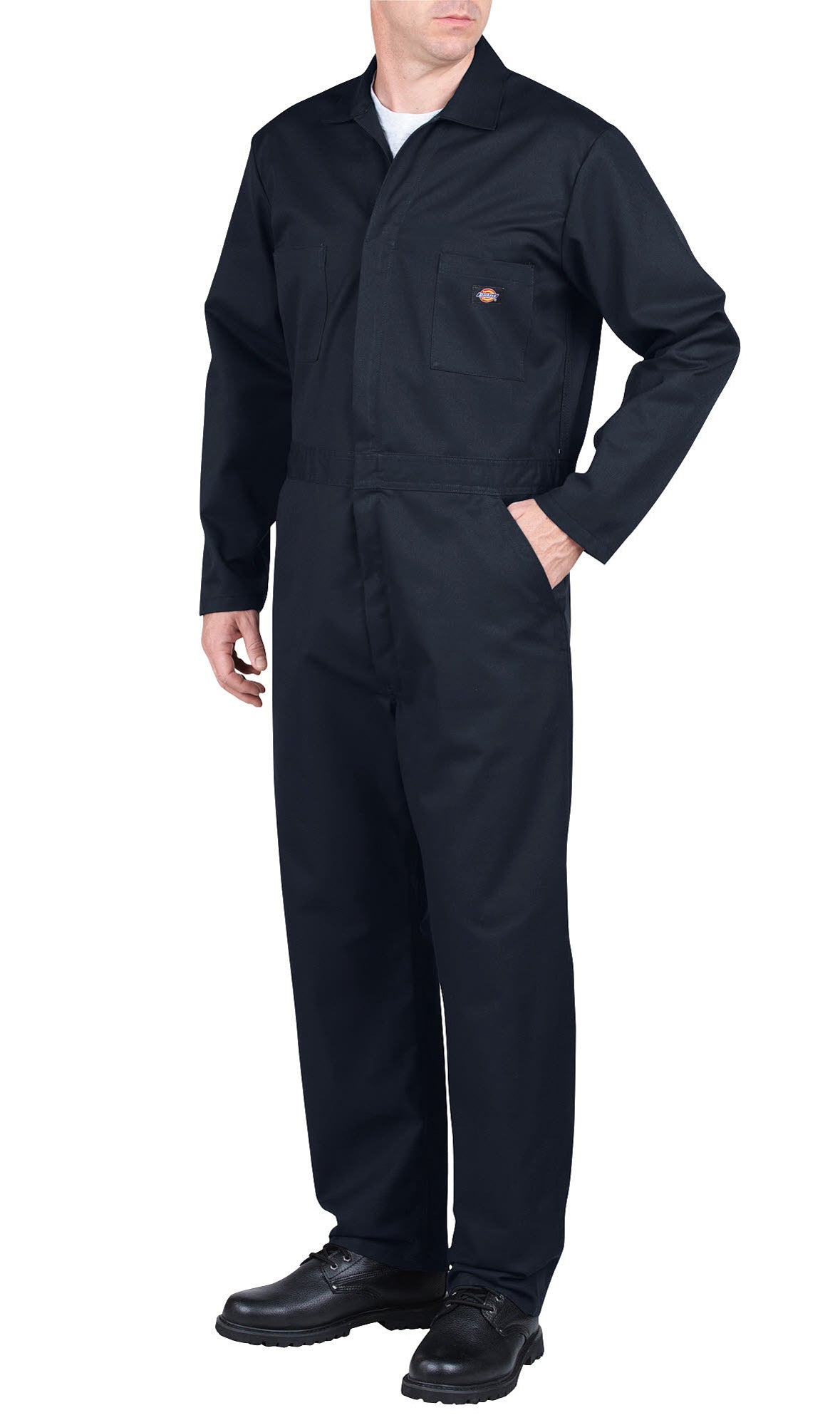 dfcc49a927c6c Dickies Mens Dark Navy Basic Blended Coverall – The Western Company
