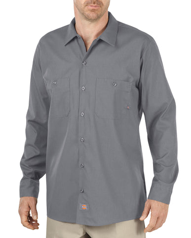 Dickies Mens Graphite Gray L/S Long Sleeve Industrial Work Shirt