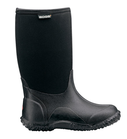 Bogs Kids Black Rubber/Nylon Classic Solid Insulated WP Winter Boots