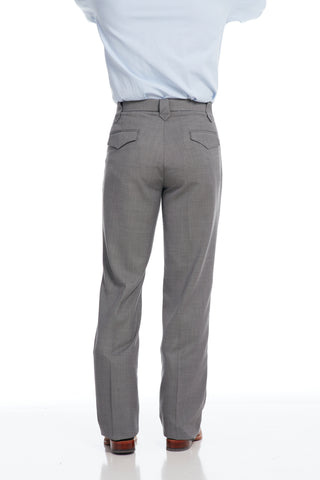 Circle S Mens Steel Grey Polyester Pants Ranch Dress