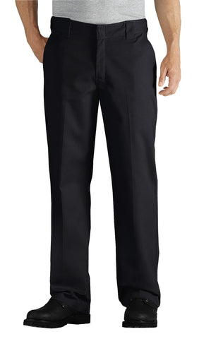 Dickies Mens Black Flex Straight Leg Twill Comfort Waist Pants